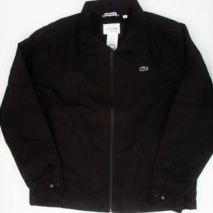 NWT Lacoste Black Zip UP Windbreaker Jacket XL 2XL